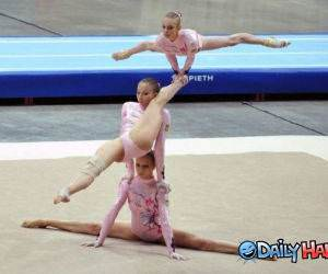 Crazy Gymnasts funny picture