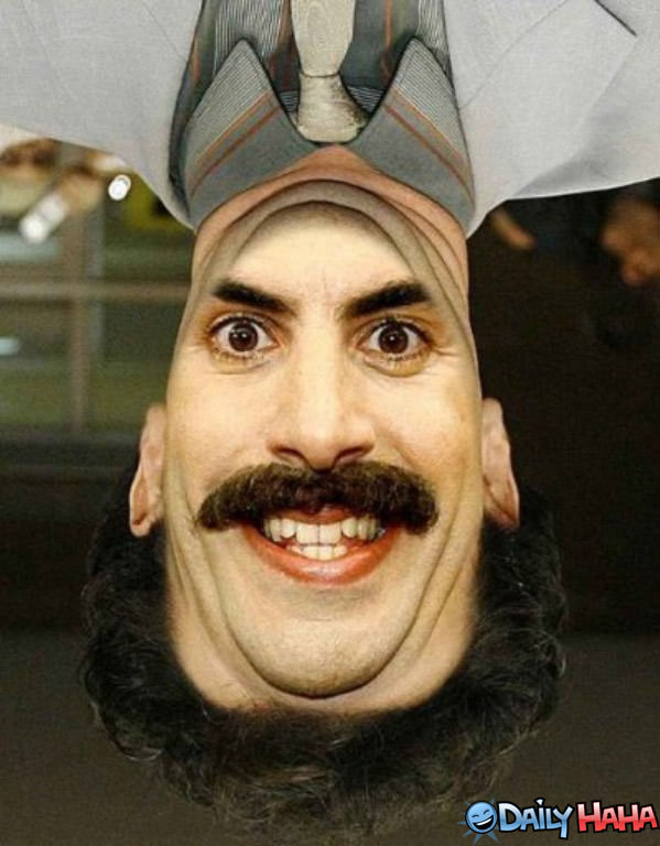 Crazy borat face funny picture