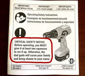 critical safety notice