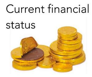current financial status funny picture