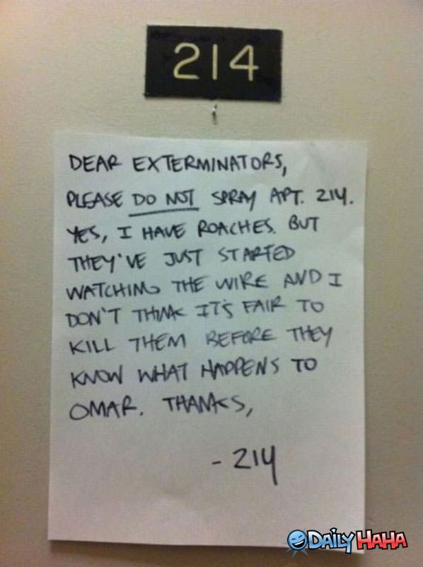 Dear Exterminators funny picture