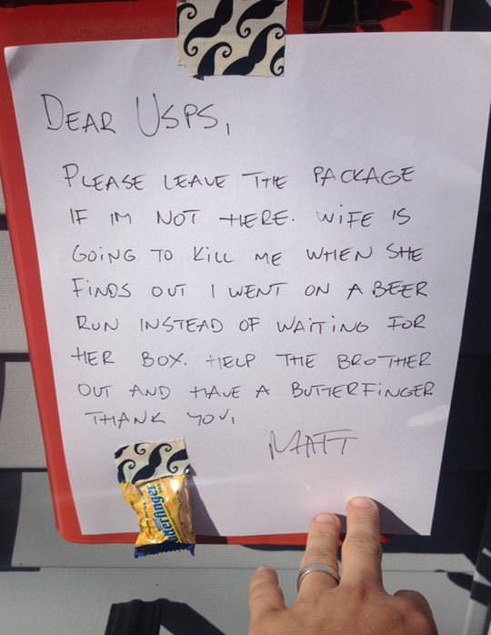dear usps funny picture