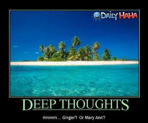 Deep Thoughts funny picture
