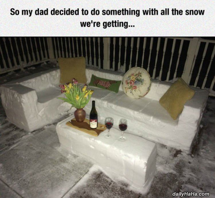 did something with all the snow funny picture