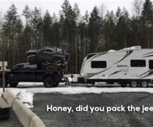 did you pack the jeep funny picture