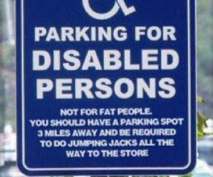 disabled parking funny picture