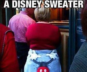 Disney Sweater funny picture