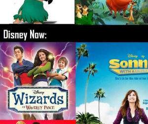 Disney  Channel Then and Now funny picture