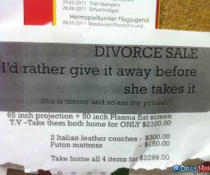 Divorce Sale funny picture
