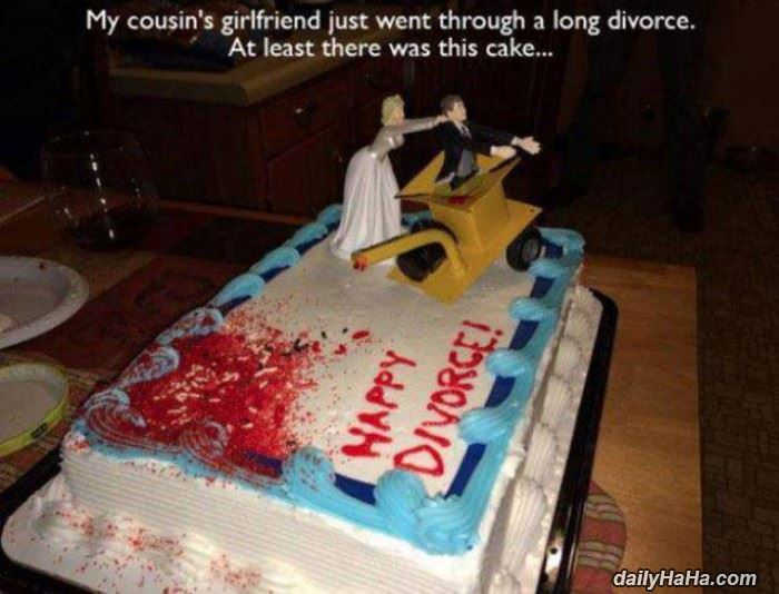 divorce cake funny picture