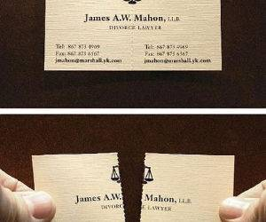 Divorce Lawyer Card