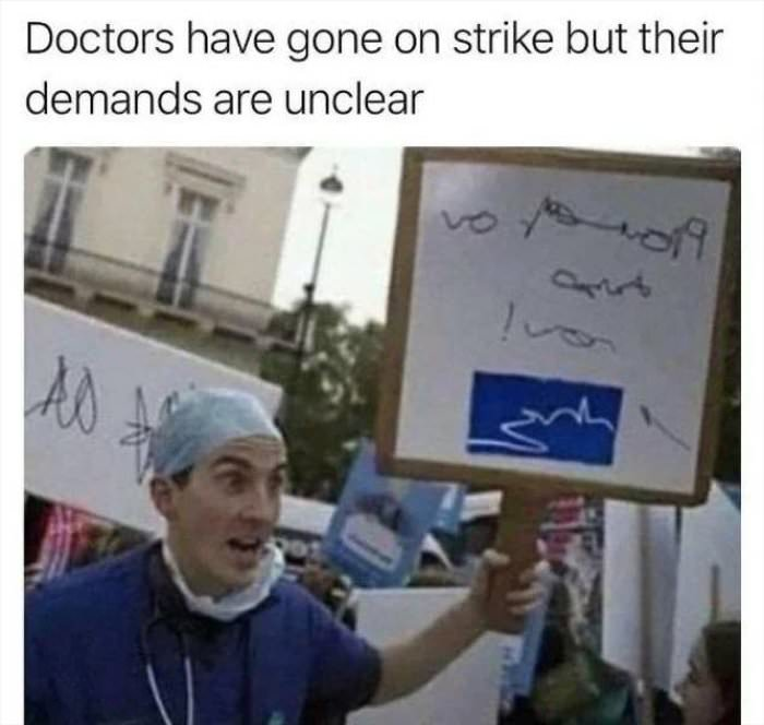 doctors are on strike