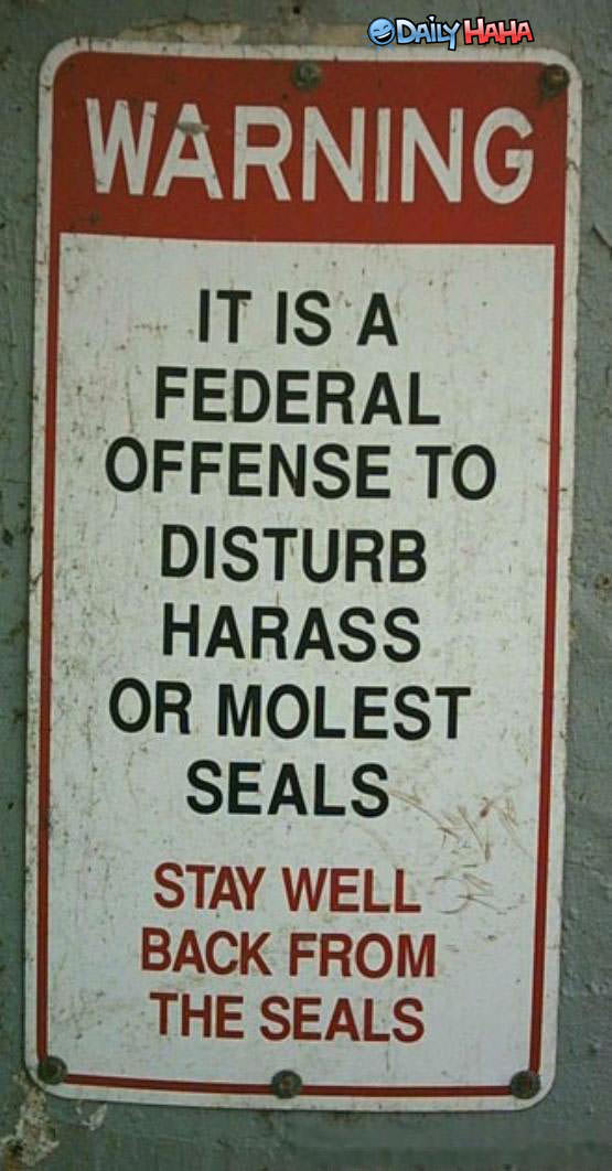Dont Molest the Seals