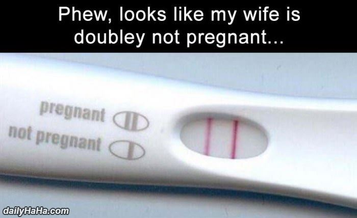 doubley not pregnant funny picture