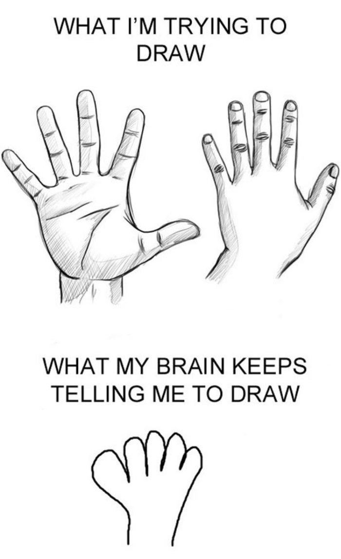 drawing hands funny picture