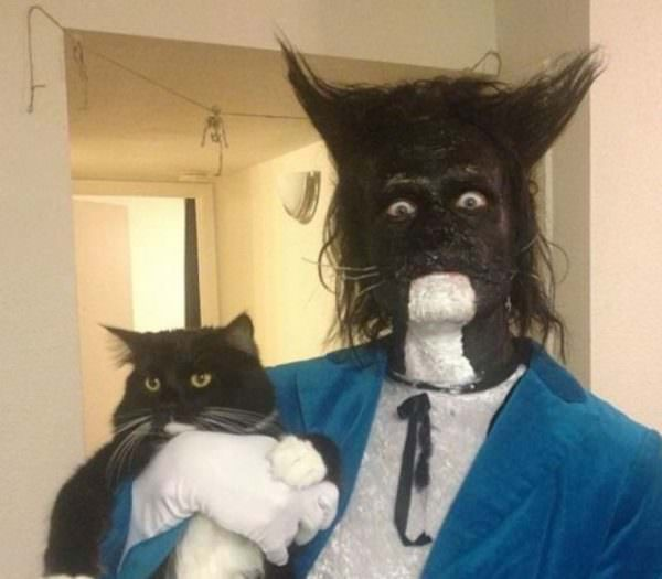 Dressed as His Cat funny picture