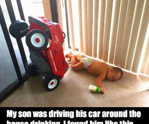 Drinking While Driving Accident funny picture