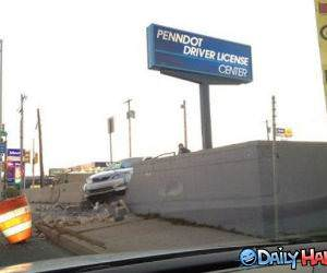 Driver License Center funny picture