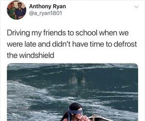driving friends to school