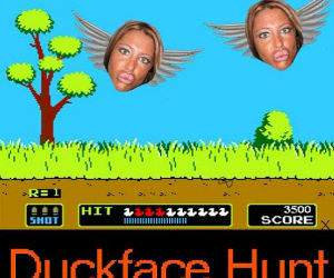 Duckface Hunt funny picture