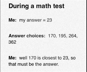 during a math test funny picture