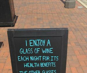 each glass for a reason
