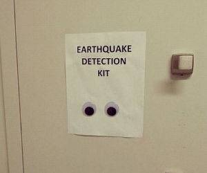 earthquake detection kit funny picture
