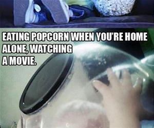 eating popcorn funny picture