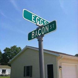 eggs and bacon streets