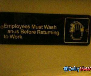 Employees Must Wash funny picture