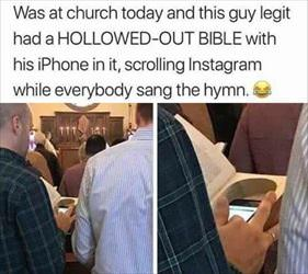 entertained at church