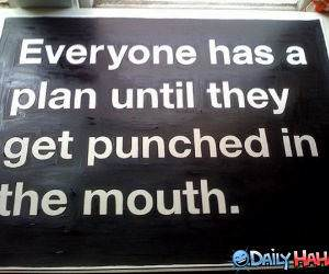 Everyone Has a Plan funny picture