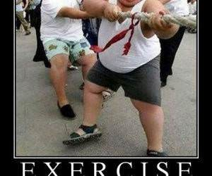 Exercise funny picture