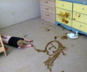 Exhausting Artwork funny picture