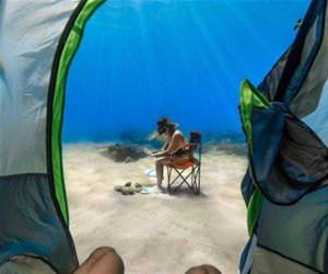 exotic camping spot funny picture