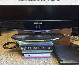 expensive tv stand funny picture