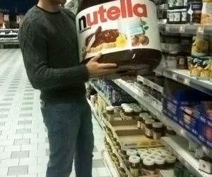 Family Size Nutella funny picture