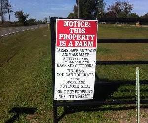 Farm Notice funny picture