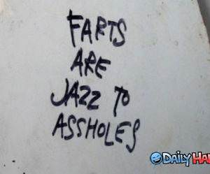 Farts are Jazz funny picture
