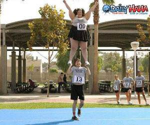 Fat cheerleader picture.