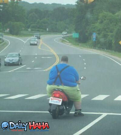 Fatty Moped Man