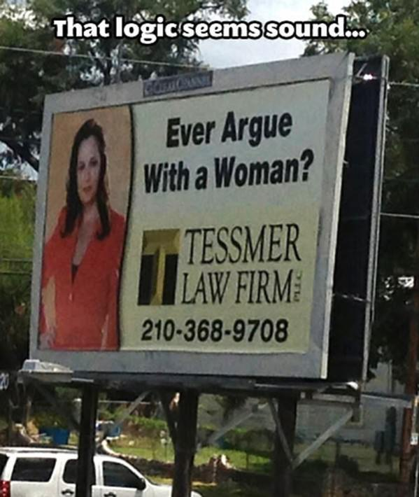 Female Lawyer Billboard funny picture