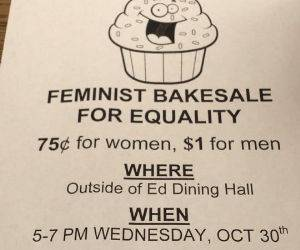 Femenist Bakesale funny picture