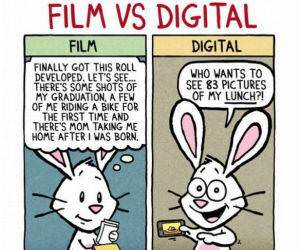 Film VS Digital funny picture