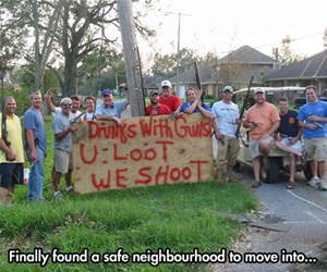 finally a safe neighborhood funny picture