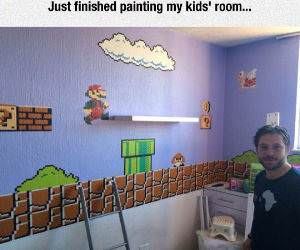 finished painting funny picture
