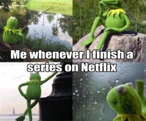 finishing a series on netflix funny picture