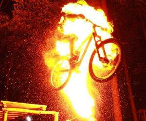 Fire Jump funny picture