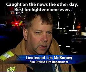 Perfect Firefighters Name funny picture