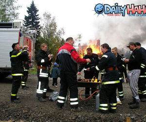 Fireman Barbeque Picture